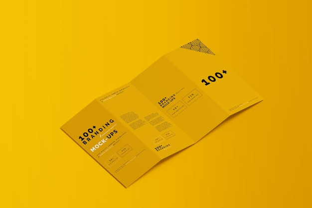 Primo piano sulla confezione di modelli di brochure a quattro pieghe dl