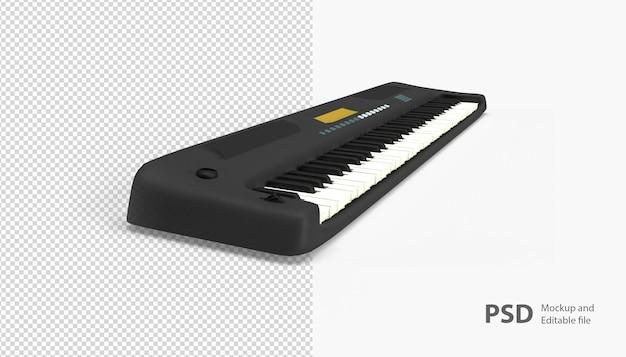 Primo piano sul pianoforte isolato