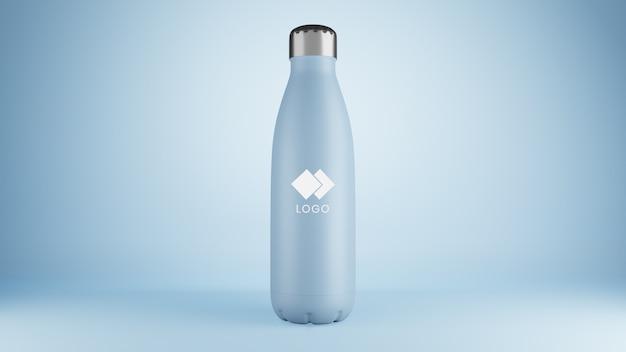 Primo piano sul mockup di bottiglia corporativa di plastica