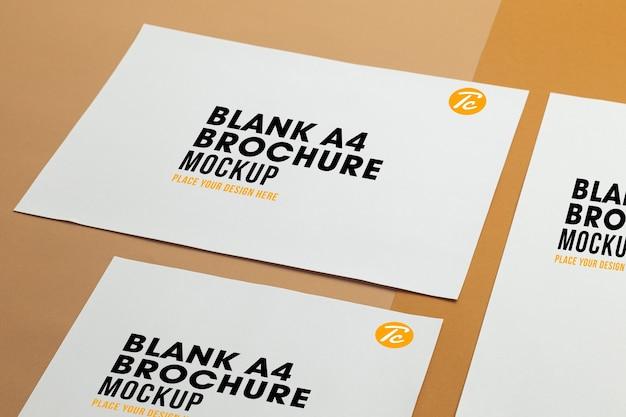 Primo piano sul modello di brochure poster