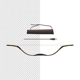 Primo piano sul set di frecce isolate psd premium