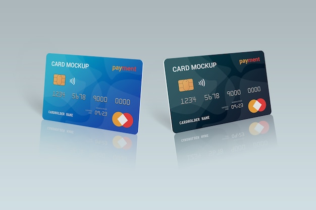 Primo piano su smart card mockup design isolato