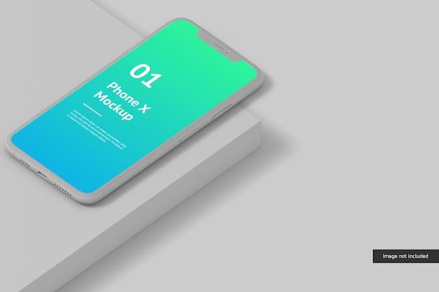 Primo piano su smart phone screen mockup