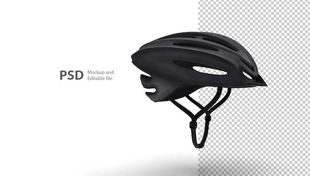 Primo piano sul casco sportivo isolato nel rendering 3d
