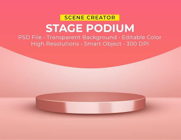 Primo piano sul palco podio in rendering 3d