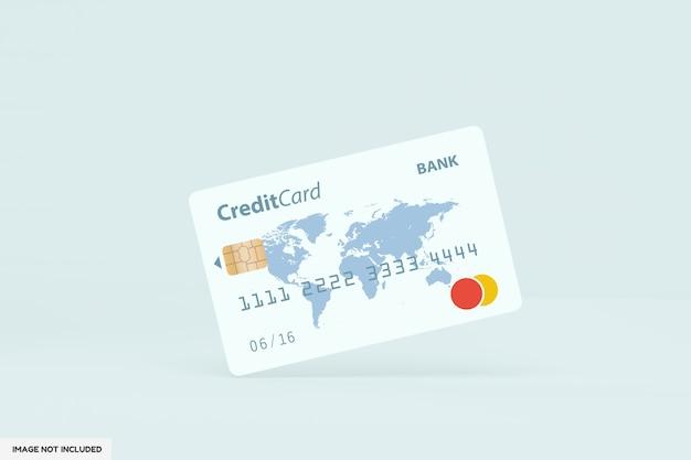 Primo piano sul modello di carta di credito in piedi