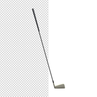 Primo piano sul bastone da golf 3d isolato premium psd
