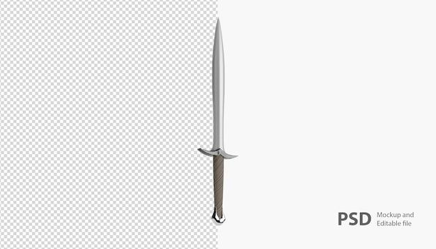 Primo piano sul rendering della spada