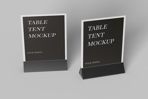 Chiuda in su design mockup tenda tavolo isolato