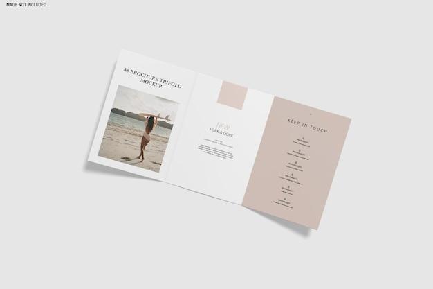 Chiuda in su brochure mockup a tre ante isolato
