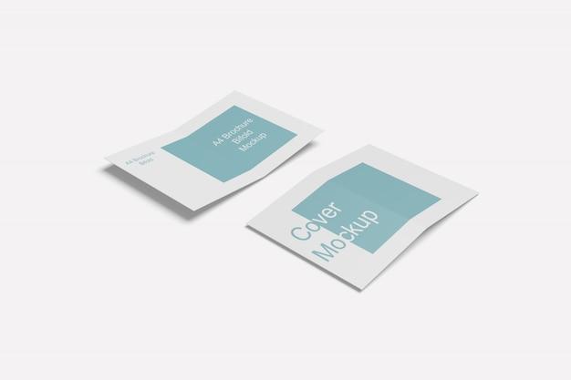 Primo piano su brochure bifold per vari scopi