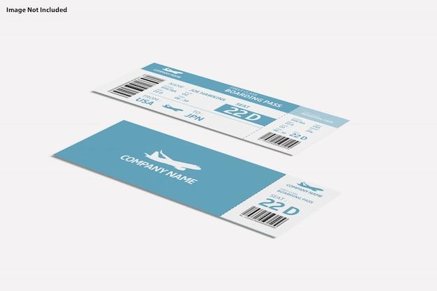 Primo piano su vari scopi ticket mockup