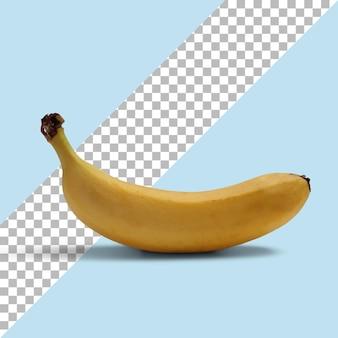 Vista ravvicinata banana gialla matura isolata