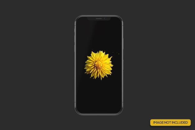 Vista ravvicinata del mockup realistico dello smartphone