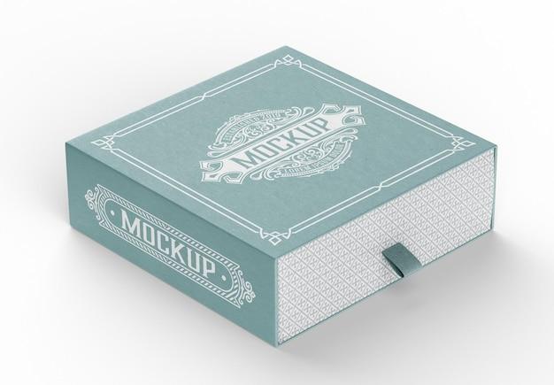 Mockup 3d di scatola di cartone chiusa