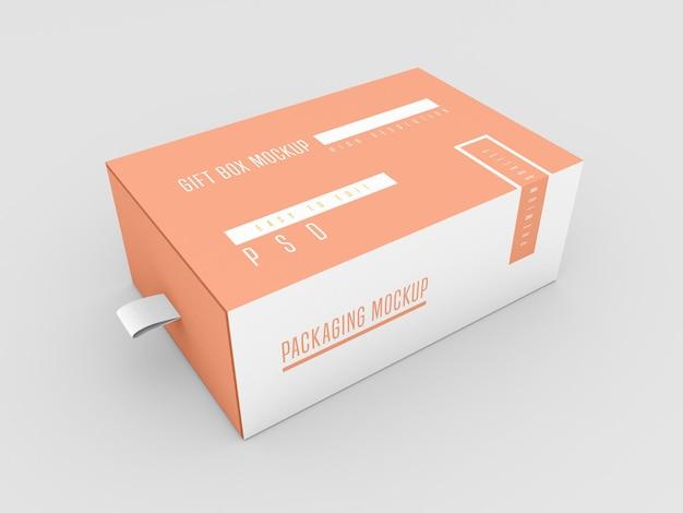 Mockup di scatola di consegna chiusa