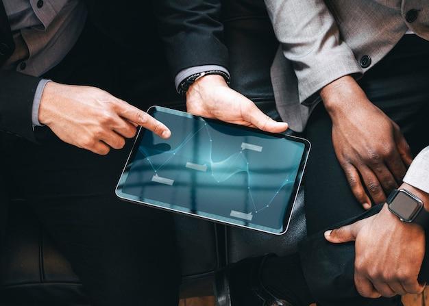 Primo piano di un mockup di tablet digitale