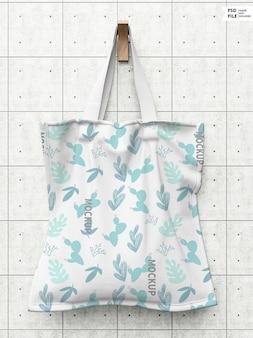 Modello di borsa tote in tessuto