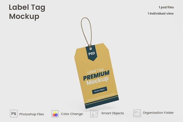 Modello di mockup di etichette per etichette di vestiti psd premium