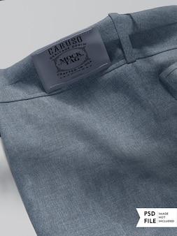 Mockup di etichette di vestiti