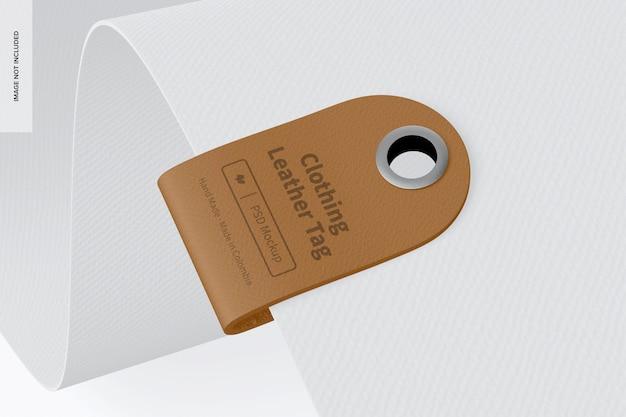 Mockup di etichette in pelle per abbigliamento