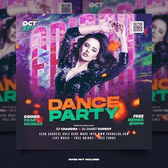 Club dj party flyer social media pos