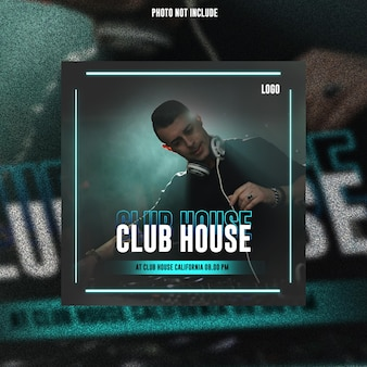Club dj party flyer social media post banner web premium psd