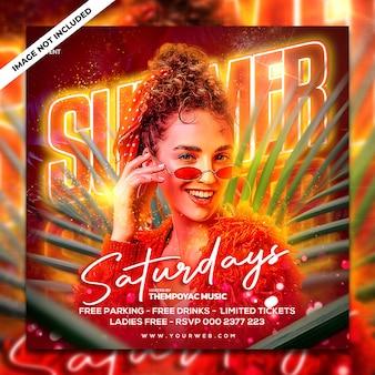 Club dj party flyer post sui social media e banner web
