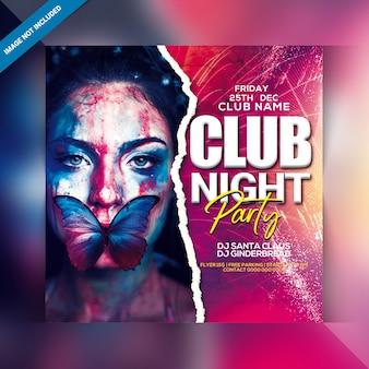 Modello di volantino festa di notte del club