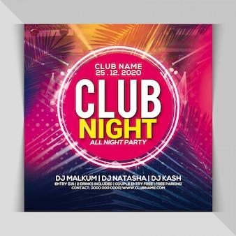 Volantino per festa notturna del club