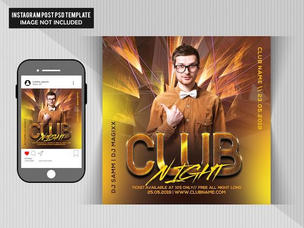 Volantino club night party