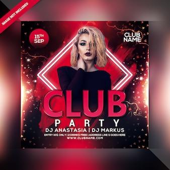 Volantino per festa di club sounds