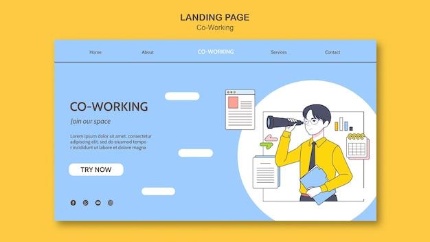 Modello di pagina di destinazione di co-working