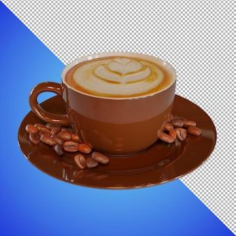 Rendering 3d del caffè per l'immagine di anteprima