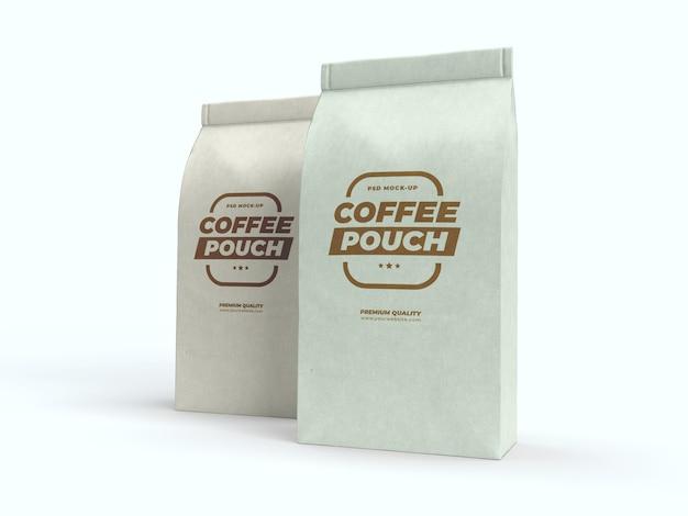Mock-up di bustina di caffè per caffè, tè e altri prodotti alimentari