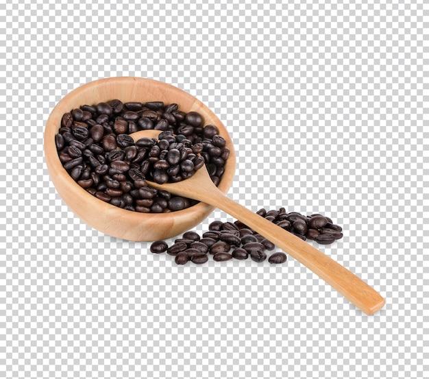Chicchi di caffè isolati pfremium psd