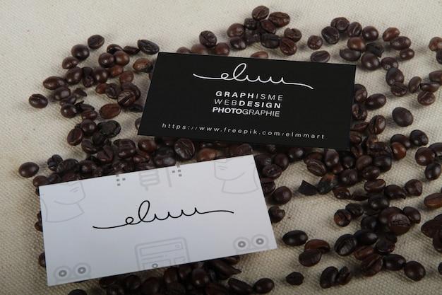 Modello di biglietto da visita di caffè