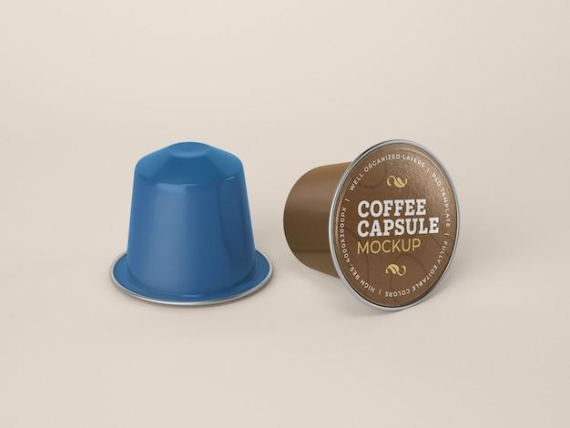 Mockup di capsule di caffè