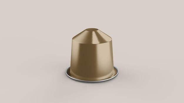 Mockup di capsule di caffè in cialde