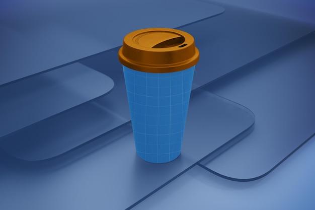 Tazza di caffè su vetro