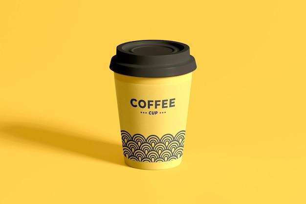 Mockup di tazza di caffè isolato