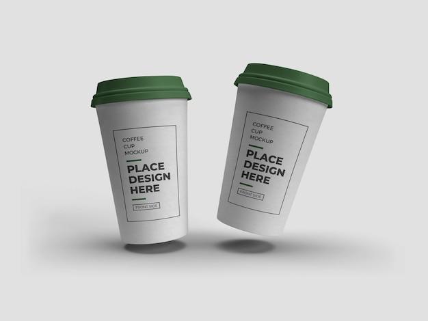 Mockup di imballaggio della tazza di caffè isolato