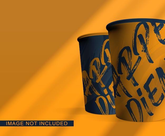 Mockup di imballaggio tazza di caffè isolato