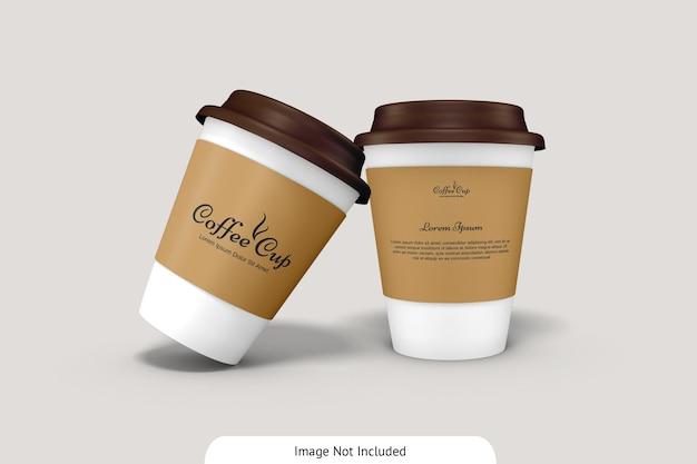 Tazza di caffè con mockup di cartone