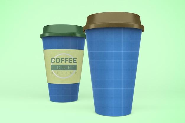 Mockup di tazze da caffè. bevande da asporto