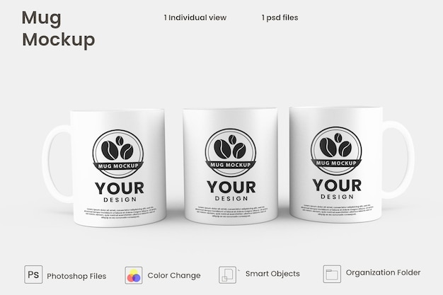 Design mockup tazza da caffè