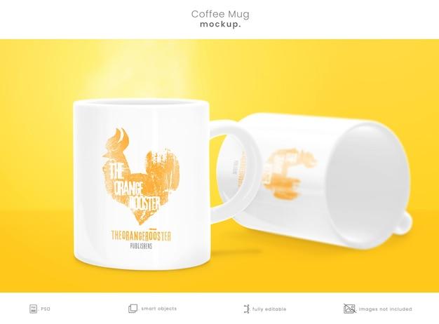 Mockup di tazza da caffè isolato