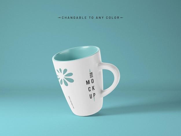 Mockup di tazza da caffè con colore modificabile