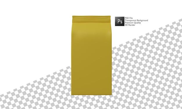 Progettazione 3d dell'illustrazione dell'imballaggio del caffè