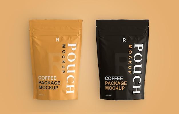 Design del mockup della bustina di imballaggio del caffè